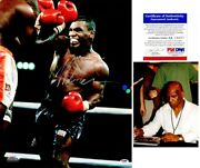 Mike Tyson Signed Boxing Autographed 16x20 Inch Photo - Witnessed Psa/dna +proof