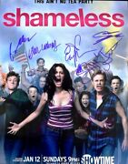 Emmy Rossum, William H. Macy, And 5 More Shameless Cast Signed 11x14 Inch Photo
