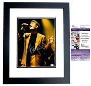 Huey Lewis And The News Signed Autographed 11x14 Inch Photo Custom Framed - Jsa