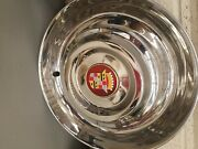4 Restored Vintage 55 Cadillac Hubcaps W/ New Brass Badges
