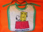 Vintage Snoopy Baby Bib Fabric Peanuts Characters 1958 Schulz