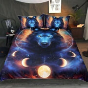 Animal Print Wolf Duvet Cover With Pillow Cases Quilt Bedding Set All Sizes Bed