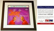Smothers Brothers Signed Album Cover Framed - Psa/dna - Tom And Dick Smothers
