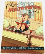 Rare 1952 Educational / Health Posters-complete Set Of 12 -art By C. Twelvetrees