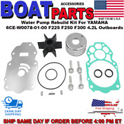 Water Pump Rebuild Kit For Yamaha 6ce-w0078-01-00 F225 F250 F300 4.2l Outboard