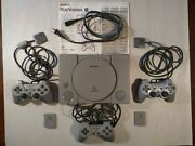 Sony Playstation 1 Original Model Scph-1001, 3 Controllers 2 Memory Cards Works