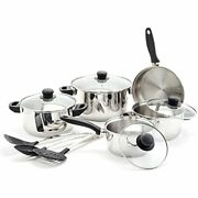 12 Pc Set Andamp Kitchen Tools Cookware Sets, Stainless Steel, Black Dining