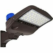 200w Led Parking Lot Light Photocell, 26000lm Commercial Area Lighting, Pole Arm