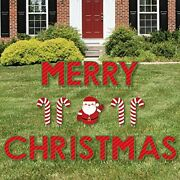 Big Dot Of Happiness Merry Christmas - Yard Sign Outdoor Lawn Decorations Signs