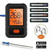 Cl18 - Smart Bluetooth Bbq Grill Thermometer 4 Probes Outdoor Meat Smoker Remote