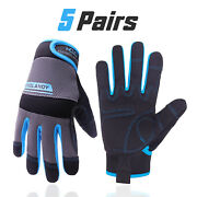 Men Women Work Gloves Synthetic Leather Breathable Work Gloves With Touchscreen