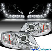 For 1997-2003 Ford F150 Expedition Projector Headlights W/ Led Light Bar