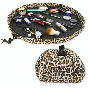 Layngo Cosmo Makeup 20 Inch Cosmetic Bag Leopard Travel Bag Organizer Washable