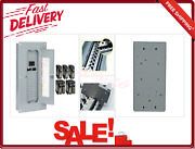 Main Breaker Panel With Cover 100 Amp 24-space 8-circuit Plug-on Load Center New