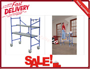 Rolling Scaffold Tower With Locking Wheels 500 Lb. Load Capacity 4x3.8x2 Ft. New