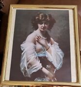 Coca-cola Drink Coca Cola 5 Cents Naked Woman Picture Print Framed 22 X 18