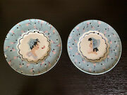 Vintage Cleminsons Wall Hanging Plates Boy Girl 1940's-50's Decor Cute