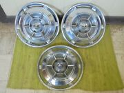 1961 Buick Spinner Hubcaps 15 Set Of 3 Wheel Covers 61 Hub Caps