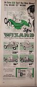Lot 3 Vintage Lawn Mower Ads Excello Wizard Jacobsen