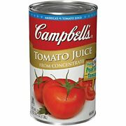 Campbells Tomato Juice Cans Low Sodium 46 Oz Can Pack Of 12