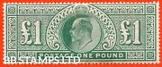 Sg. 266. M55. Andpound1.00 Dull Blue - Green. A Fine Lightly Mounted Mint Examp B18363