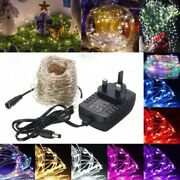 131 2/12ft Led Silver Wire Fairy String Light Christmas Xmas Wedding Party Lamp