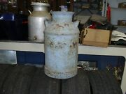 Antique Vintage 1930's/40's 10 Gallon 24 Tall Steel Milk Can, Rusty, No Lid