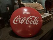1950and039s Coke Coca-cola 16 Porcelain Advertising Button Sign Watch Video