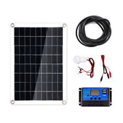40w Solar Panel+3w Lamp+10a Solar Controller + 3 4/12ft Extension Cord Set For
