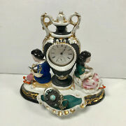 F284 Vintage Ceramic Pocket Watch And Jewelry Holder Stand Case Collectible