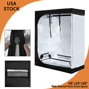 48x24x60 Grow Tent Box Hydroponic Indoor Plant Veg Thick Oxford Growing Room