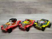 T.n Lever Action Mg Roadster Series Tin Toy Model Cars Set Of 3 Original Boxes