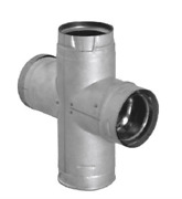 Duravent 4'' Pelletvent Pro Double Tee With Clean-out Tee Cap 4pvp-dbt