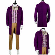 Charlie And The Chocolate Factory Gene Wilder-willy Wonka Costume Outfit Cosplay