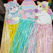 Easter Holiday Cardboard Streamer Decorations Vintage 90s Pre Owned