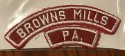 Browns Mills Pa Red And White Strip Rws Tt5