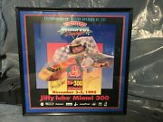 Rare Nascar Miami 300 Inaugural Poster Signed By Dale Jarrett And Kenny Wallace