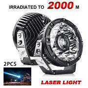 2x 7 8.5and039and039 9and039and039 Professional Grade 4x4 Off-road Lights Laser Driving Fog Light