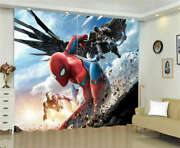 Stone Fragments Wings Spider Man Printing 3d Blockout Curtains Fabric Window