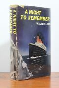 A Night To Remember By Walter Lord - Signed By Titanic Survivor Emily Rugg