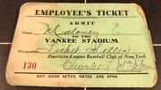 1923-53 New York Yankees Ticket Pass Babe Ruth/ Signed Charles Mcmanus Supt.std.