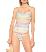 Missoni Multi Striped Mare One-piece Swimsuit Womenand039s Size 44 67609