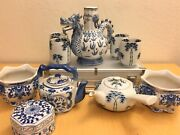 Antique Chinese Cups And Tea Pots 10 Pieces