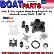 Water Pump Impeller Kit 394711 For Johnson Evinrude Outboard 9.9/15hp 1974-up
