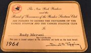 1964 Ticket Pass Tony Conigliaro Debut/hit Opening Day New York Yankes Red Sox