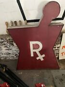Vintage Pharmacy Rx Drugs Letters Neon Antique Sign Medical Pharmaceutical Large