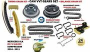 Timing Cahin + Vvt Gear Kit For Mercedes Coupe C230 Kompressor 2002-2008