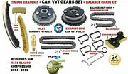 Timing Cahin + Vvt Gear Kit For Mercedes Cclass Coupe C180 Kompressor 2002-08