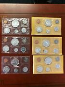 Lot Of 5 1962-11965-5 Canadian Mint 6 Coin Sets 80 Silver