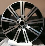22'' Wheels Fit Land Rover Range Rover Hse Sport With Tires Stormer Black Lr3